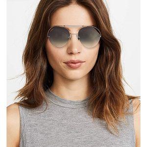 Fendi Women's Cut Out Aviator Sunglasses